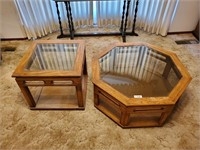 2 - Glass Top Tables