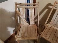 2 - Wood Chairs