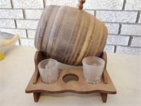 Whiskey Barrel & Shot Glasses