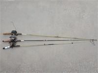 3 - Daiwa & Zebco Fishing Poles