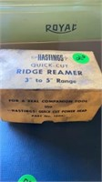 HASTINGS QUICK CUT RIDGE REAMER WOTH INSTRUCTIONS