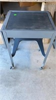TYPEWRITER STAND METAL WITH FOLD UP SIDESK