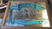"""HEILEMANS OLD STYLE BEER MIRROR, 20"""" by 14"""""""