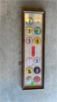 PIC WITH DISPLAY OF BUTTON TRACTOR PINS , 24