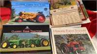 BOX OF MANY TRACTOR CALENDARS