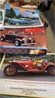 BOX OF CAR CALENDARS AND FAIRBURY LIVESTOCK