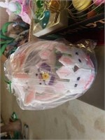 EGGS IN A WIRE BASKET, BUNNY LIGHTS,  EASTER