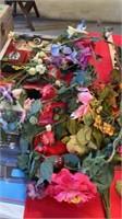 FALL FLOWERS, BERRIES, WREATH