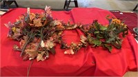 FALL FLOWERS AND WREATH, GREENERY