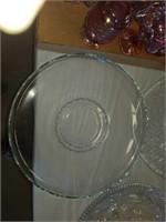 4 LARGE GLASS VEGETABLE PLATTERS