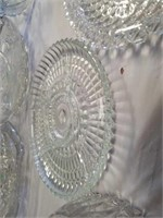 GLASS CRYSTAL BOWL, 2 GLASS CRYSTAL VEGETABLE