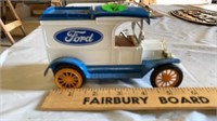 ANTIQUE FORD CARGO VAN AND COIN BANK