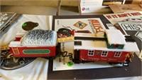 CHRISTMAS TRAIN SET WITH TRACKS  AND DEPOT ,2