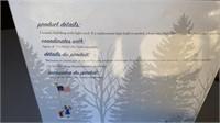 GOLD BLESS AMERICA  SNOW VILLAGE