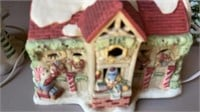 VERY COLORFUL CHRISTMAS VILLAGE 5 PIECE