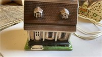 5 BUILDINGS FOR CHRISTMAS VILLAGE AND HORSE AND