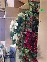 NUMEROUS CHRISTMAS SWAGS, HALLMARK ORNAMENTS,