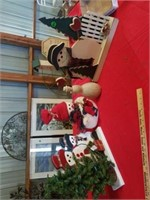 """LIGHTED WOOD SNOWMEN - APPROXIMATELY 14"""" X 18"""","""