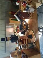 FOURTH OF JULY WOOD BIRD HOUSE,  UNCLE SAM, TEA