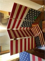 MISCELLANOUS WOOD FOURTH OF JULY DECORATIONS,