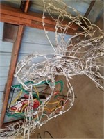 """APPROXIMATELY 44"""" HIGH X 40"""" WIDE, LIGHTED ANGEL,"""