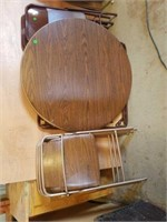 COSCO ROUND CARD TABLE AND 3 CHAIRS