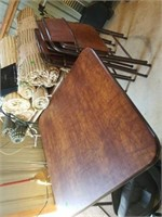 CARDTABLE AND 3 CHAIRS