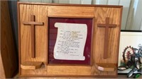 RELIGIOUS PICTURE , HEAVY WOOD FRAME A S FARM PIC