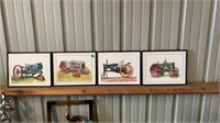 """4 TRACTOR PICTURES, EQCH IS 11"""" BY 14"""""""