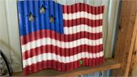 AMERICAN FLAG THAT IS METAL