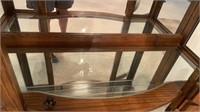 EXQUISITE LIGHTED , 2 DOOR AND 4 GLASS SHELF