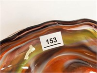 Blown Glass Bowl with Handle