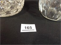 """Decanters, may be Crystal, 11"""", 9"""""""