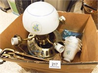 Ceiling Fan, Glass Globe, Shades
