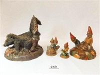 Tim Wolfe, Tom Clark Figurines (4)