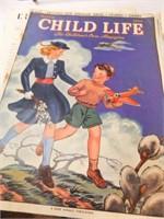 1940's, 1942 Child Life Magazines (4)