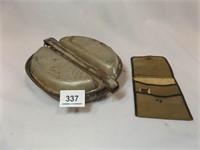 1944 Mess Kit (no utensils), US Army Razor Kit (?)