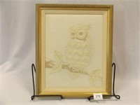 Candlewick Embroidery Owl Framed Picture