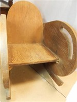 Child's Wooden Rocking Chair, Low