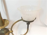 Gas Lamp with Globes