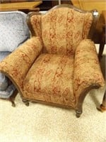 """Wing Chair, Paisley Pattern 36"""" x 36"""" x 35"""""""