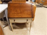 """Drop Desk, partially painted, 35"""" x 24"""" x 16"""""""
