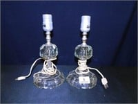 Lamps (2); Glass-Possibly Crystal