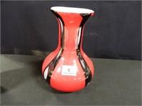 Burton & Burton Vase-Black & Red