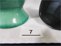 Vases (2); Two-toned; Black/Gray