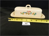 Oblong Bowl; Butter Dish w/Cover