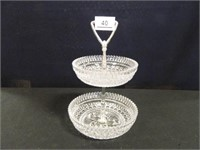 2-Tiered Glass Serving Piece
