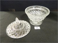 Glass Containers w/Lids; (2)