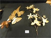 Metal Wall Art; Butterflies; Birds