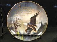 Eagle Plates w/Bible Verses; (6)